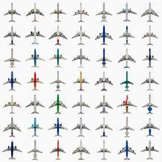 Photos of Aircraft Shot from Below by Jeffrey Milstein