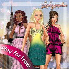 Lady Popular  -  virtual worlds for girls and boys at http://girlsvirtualworlds.com