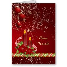 24 best italian christmas cards greetings images on pinterest candels poinsettia italian christmas greeting card m4hsunfo