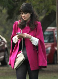 #ZooeyDeschanel on the set of #NewGirl. We can't wait for the new episodes!