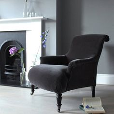Objects of Design #277: Charcoal Velvet Armchair - Mad About The House