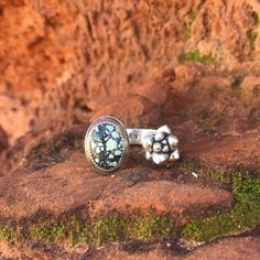 New Landers Turquoise & Succulent Ring by MotoquaRoad on Etsy