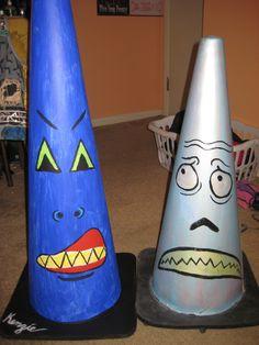 Traffic Cone Creatures