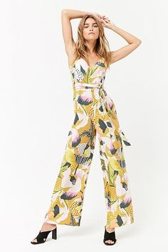8c18c977530 Abstract Print Cami Jumpsuit Casual Jumpsuit