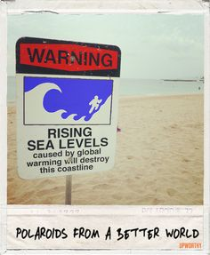 Rising sea levels caused by global warming will destroy this coastline