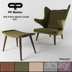 The papa bear chair + ottoman