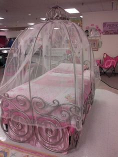 details about disney carriage bed canopy sheer (just the sheer