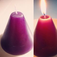 First attempt at homemade candles. This is rose scented, using beeswax.