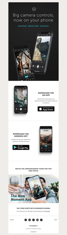 The Best Email Designs in the Universe (that came into my inbox) Android Watch, Android Apps, Email Design, Web Design, Big Camera, Email Client, Best Email, Free Email, Ios App
