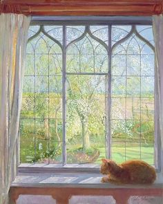 Window in Spring, 1992 Postcards, Greetings Cards, Art Prints, Canvas, Framed Pictures, T-shirts & Wall Art by Timothy Easton