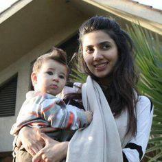 Mahira khan with son...