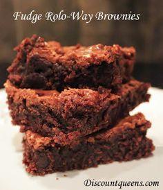 Fudge Rolo-Way Brownies!! Oh yeah!