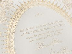 Oh So Beautiful Paper: Moulin Rouge Inspired Red + Gold Foil Wedding Invitations