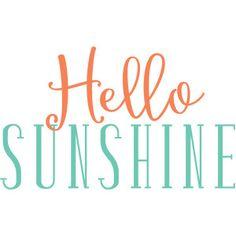 Silhouette Design Store - View Design #119348: hello sunshine
