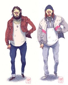 Obsolete characters by MikkelSommer on DeviantArt Character Creation, Character Concept, Character Art, Concept Art, Character Illustration, Illustration Art, Yakuza Anime, Guy Drawing, Mexican Art