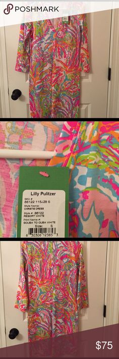 Lilly Pulitzer Christie Dress NEW Lilly Pulitzer Christie Dress in Scuba to Cuba. Size Small! Lilly Pulitzer Dresses Midi