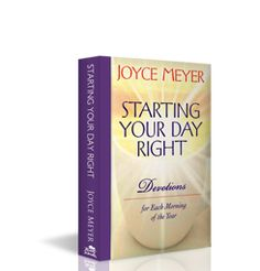 Joyce Meyer is one of my favorite speakers. This is one of many of her devotional books that I read daily.