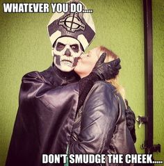 Don't smudge the cheek!