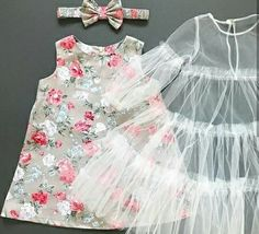 Baby Girl Dresses Diy, Baby Girl Dress Design, Baby Girl Frocks, Girls Dresses Sewing, Girls Frock Design, Baby Girl Dress Patterns, Little Girl Outfits, Little Girl Fashion, Kids Outfits