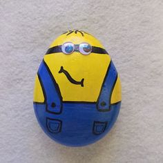 Despicable Me Minion Painted Rock by InspiredByKam on Etsy