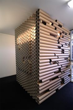 Paper tube office. An exciting example to enrich the craft lesson.