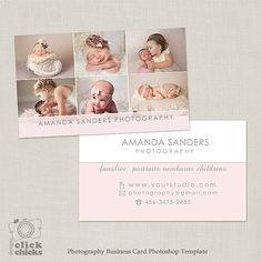 Photography Business Card Template by ClickChicksDesigns