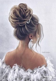 Nadi Gerber Long Wedding Hairstyles and Updo for Brides # Weddings # Hairstyles # W - Haare hochzeit - Easy Hairstyles For Medium Hair, Wedding Hairstyles For Long Hair, Bride Hairstyles, Hairstyle Ideas, Stylish Hairstyles, Bridesmaid Side Hairstyles, Long Updo Hairstyles, Hair Ideas, Everyday Hairstyles