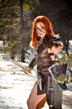 Warrior - cosplay <<<THAT'S AELA THE HUNTRESS FROM SKYRIM!