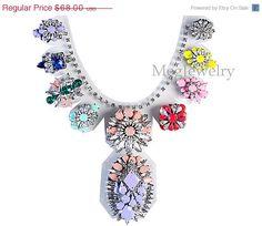 Shourouk inspired Layer Flower Neon Jewelry by MegJewelry4U, $61.20