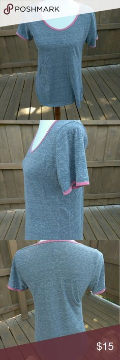 Lula Roe top In great condition gray and pink Heathered top LuLaRoe Tops Tees - Short Sleeve