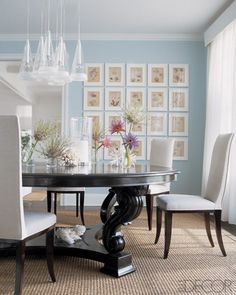 pale blue dinning room