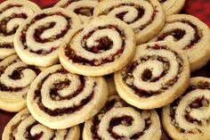The Winners of the annual cookie contest for the Star Tribune Taste section. Cranberry Pecan Swirls by Annette Poole of Prior Lake. Holiday Cookie Recipes, Holiday Cookies, Holiday Desserts, Sweets Recipes, Baking Recipes, Cookie Swirl C, Cookie Swap, Christmas Cooking, Fabulous Foods
