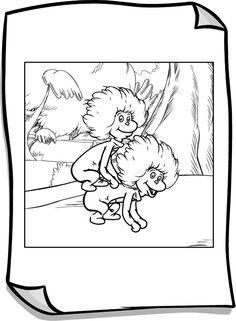 thing 1 and 2 coloring page - pbskids