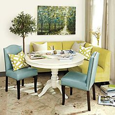 Bristol Seating (L Shape Sectional), Kinsley Chairs With Round Table.  Conservatory Ideas, L Shape, Ballard Designs ...