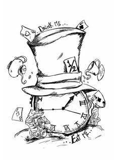 Alice im wunderland tattoo
