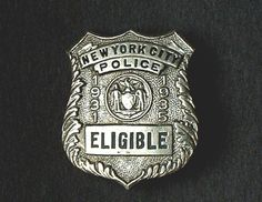 New York City Police badge 1931-1935  with Art Deco details