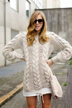 Ivory Chunky Cable Knit
