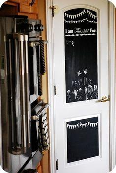 Pantry - chalkboard paint on exterior of door