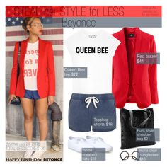 """""""Steal her style for less-Beyonce"""" by bjelanovic-ana ❤ liked on Polyvore featuring Queen Bee, Topshop, Beyonce, Stealherstyle, stealherstyleforless and happybirthdaybeyonce"""