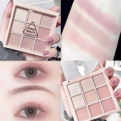 Makeup Kit, Skin Makeup, Eyeshadow Makeup, Makeup Inspo, Makeup Cosmetics, Beauty Makeup, Korean Eyeshadow, Korean Eye Makeup, Makeup Palette