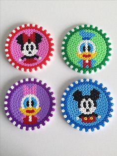 Melty Bead Patterns, Pearler Bead Patterns, Perler Patterns, Beading Patterns, Disney Hama Beads Pattern, Hama Beads Coasters, Diy Perler Beads, Perler Bead Art, Hama Coaster
