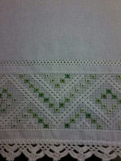 This post was discovered by Ca Drawn Thread, Thread Art, Hardanger Embroidery, Ribbon Embroidery, Swedish Weaving, Flower Embroidery Designs, Cross Stitch Borders, Embroidery Fashion, Heirloom Sewing