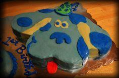 Blues Clues cake, via Flickr.
