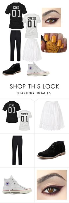 """lucas and veronica after party outfit"" by michelletheotaku2 ❤ liked on Polyvore featuring Diane Von Furstenberg, DKNY, Hush Puppies, Converse, OPI and love"