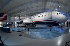 The Airbus A320 (US Airways flight 1549) that ditched into the Hudson River; January 15, 2009 on display at the Carolinas Aviation Museum in Charlotte, NC. Image source: Carolinas Aviation Museum
