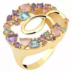 anel turmalina rosa com pedras brasileiras ouro 18k