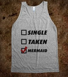 Single, Taken, Mermaid - Party On - Skreened T-shirts, Organic Shirts, Hoodies, Kids Tees, Baby One-Pieces and Tote Bags