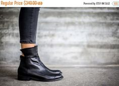 SALE Black Boots, Ankle Boots, Leather Boots, Handmade Boots, Black Booties, Slouch Boots, Winter Shoes, Riding Boots, Alberta by abramey on Etsy https://www.etsy.com/uk/listing/207112007/sale-black-boots-ankle-boots-leather
