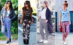 Inspire-se na nossa seleção de looks com calça estampada | Capricho