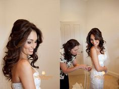 nice open hairstyle for brides with long hair